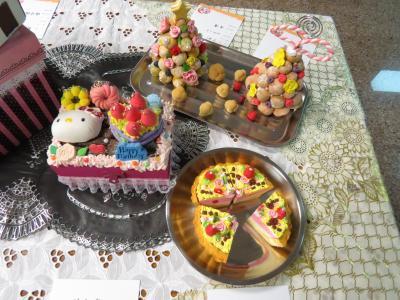 超轻粘土蛋糕图,超轻粘土作品蛋糕